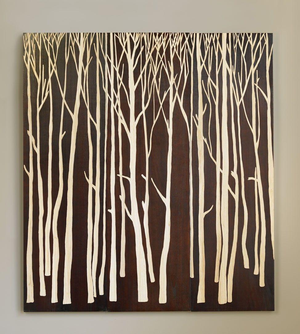 Handcarved birch forest panels zen style pinterest birch