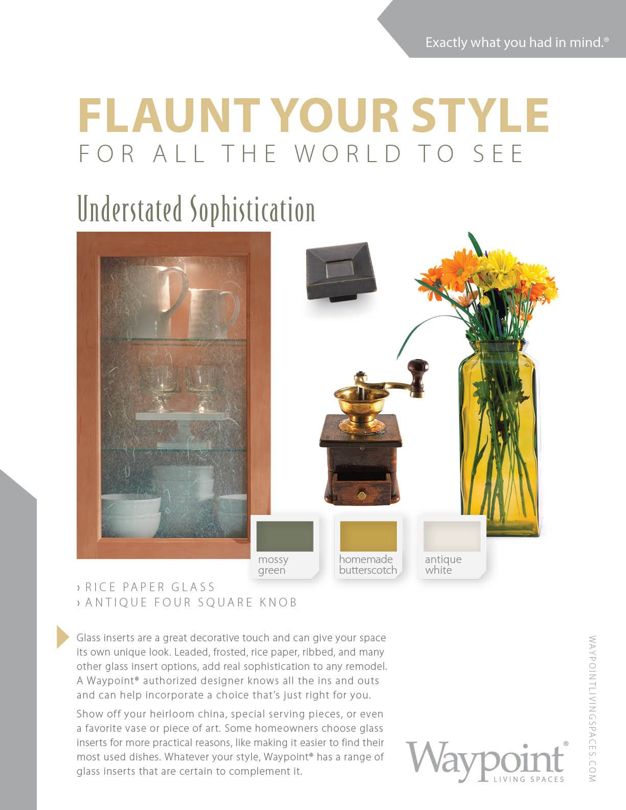 Waypoint glass cabinet door styles. | Flaunt Your Style for All the ...