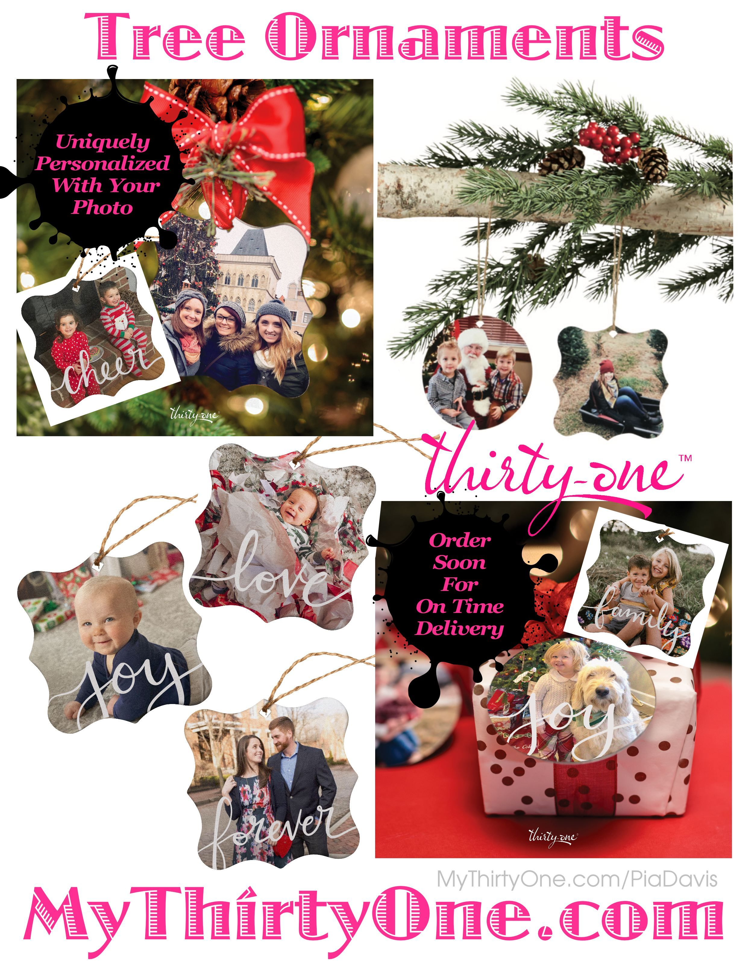 31 Photo Tree Ornaments Thirtyonegifts Personalize With Your Own Photos Photo Christmas Gifts Personalized Photo Ornaments Thirty One Gifts Thirty One