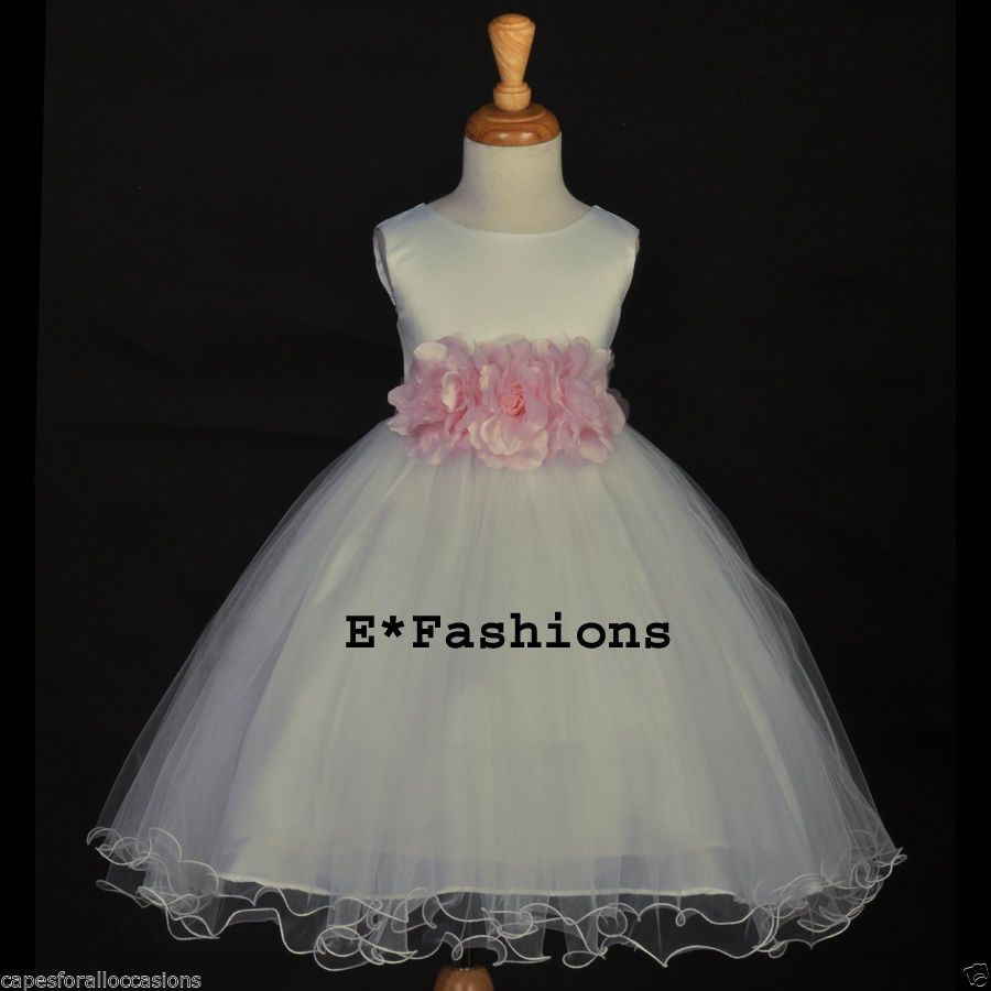 Gorgeous ivory new flower girl dress multi colors choice months