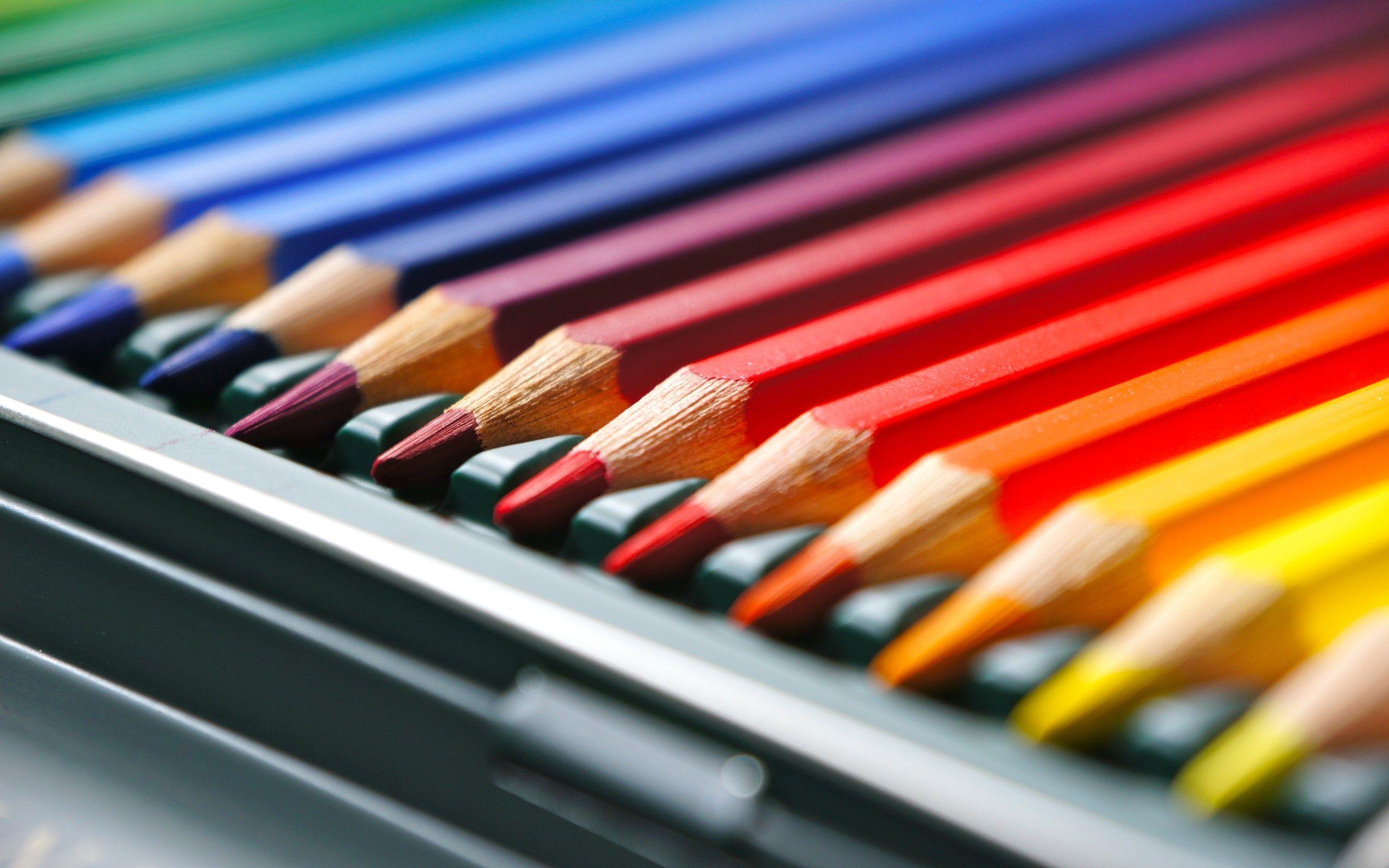 Colorful Drawing Pencils Set Hd Wallpaper Background Uhd 2k 4k 5k