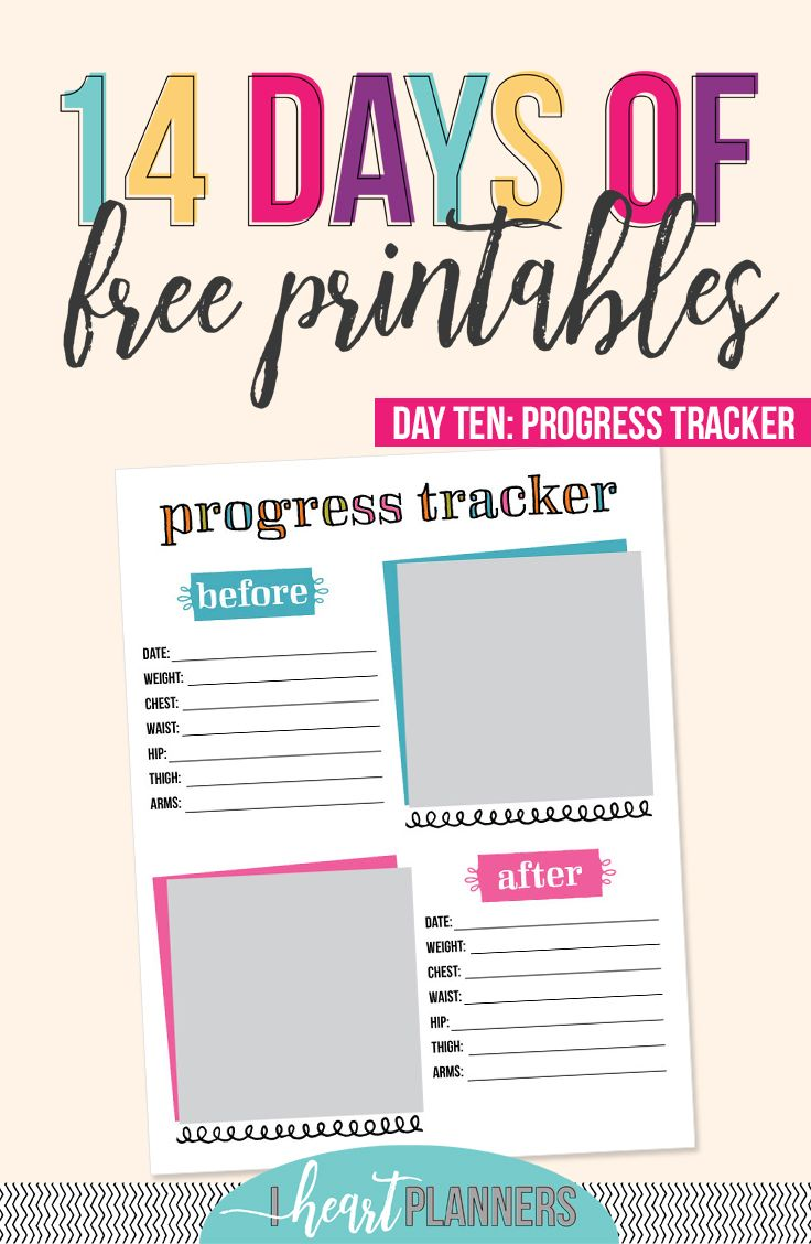 Day 10: Progress Tracker | Planners & Printables | Weight ...