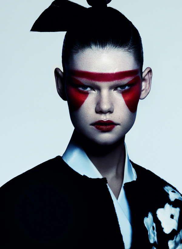 54 Samurai Inspired Styles Fashion Makeup Creative Makeup Artistry Makeup