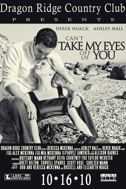 "Movie poster wedding invitation ""Take Me Home Tonight"" edy"