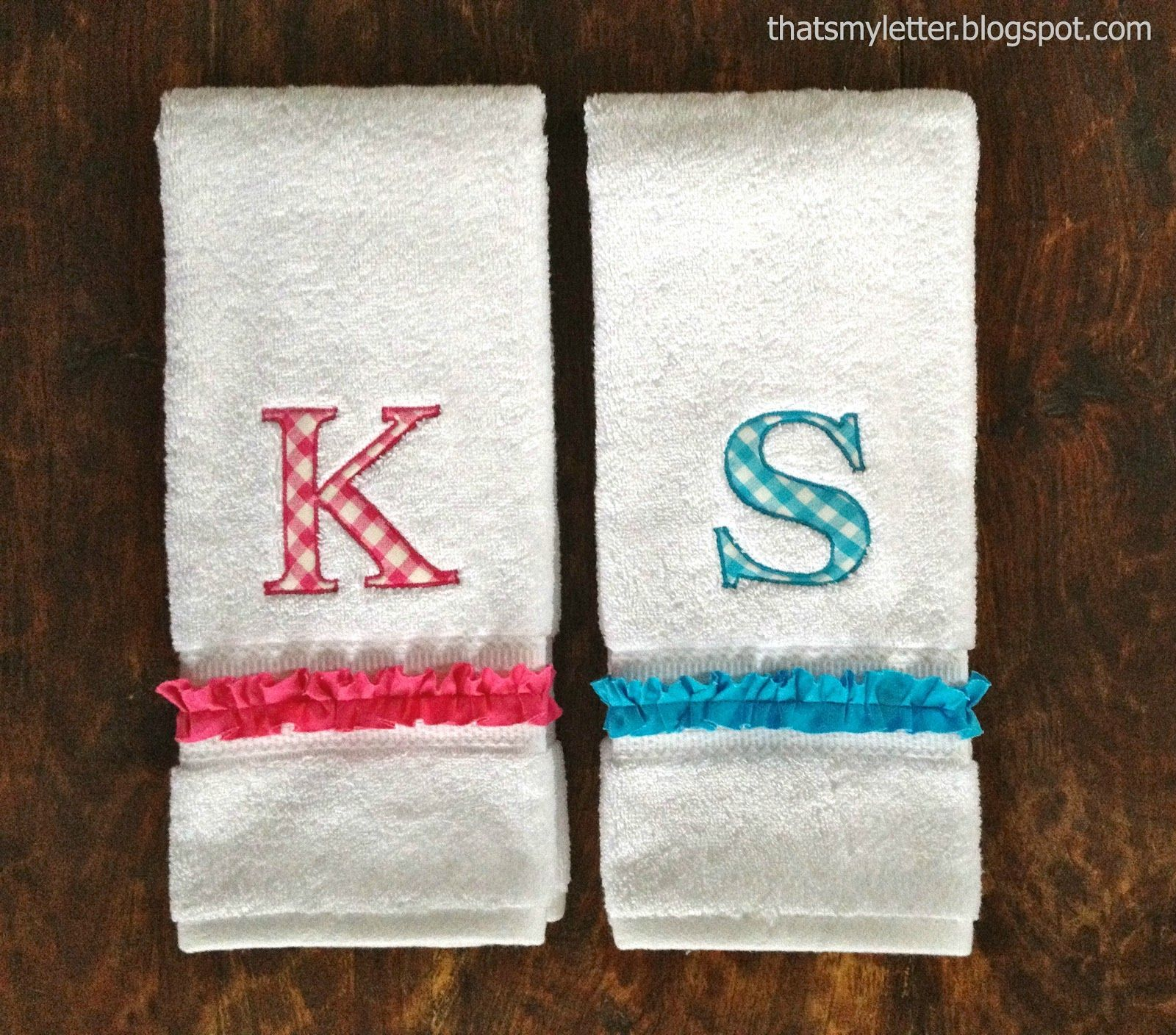 Thats My Letter: H is for Hand Towels, diy monogrammed hand towels ...