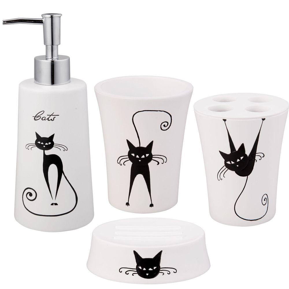Jovi Home Cats Bath Accessory Piece Set By Jovi Home Bathroom - Overstock bathroom rugs for bathroom decorating ideas
