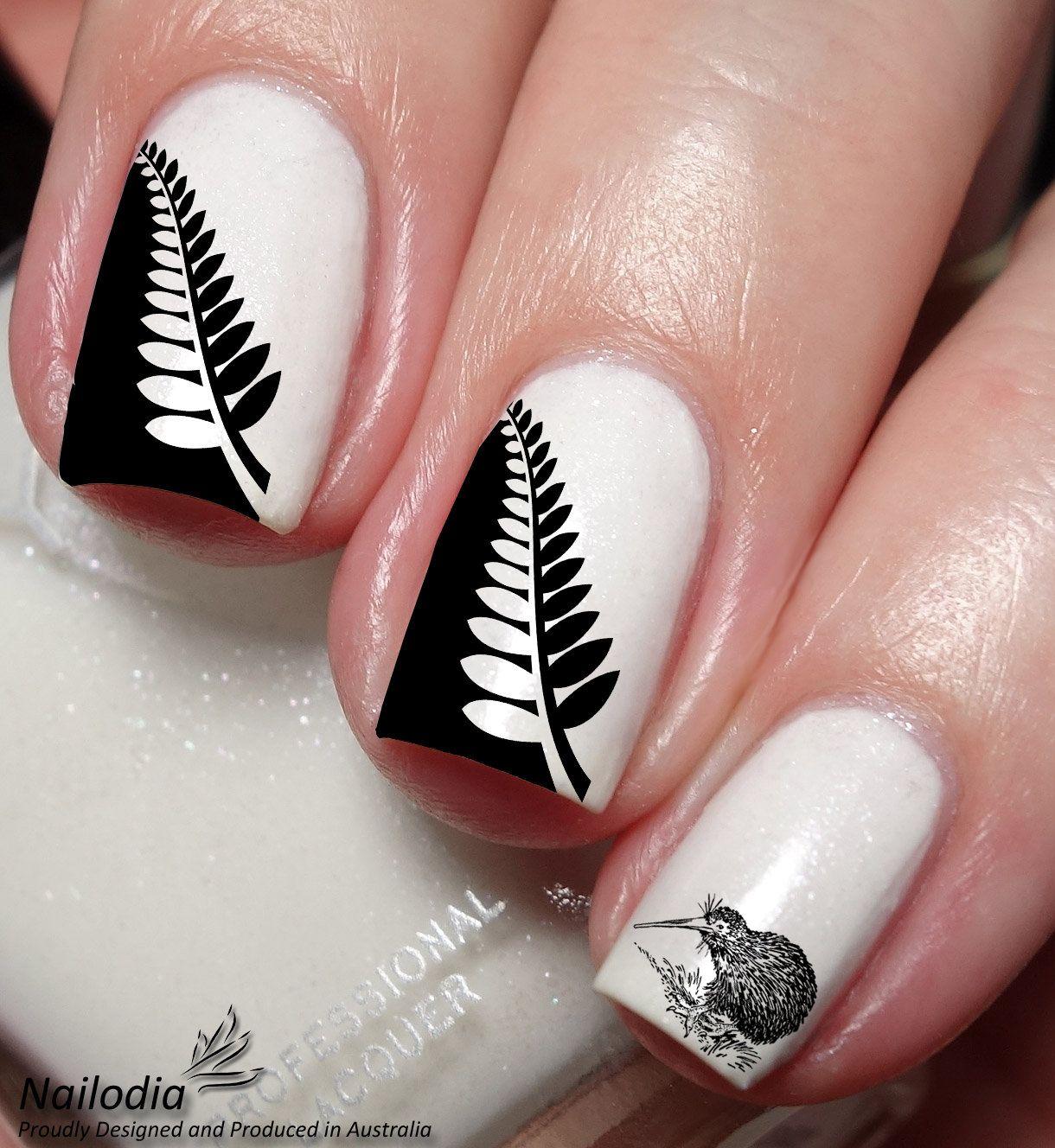 Kiwi new zealand nail art sticker by nailodia on etsy