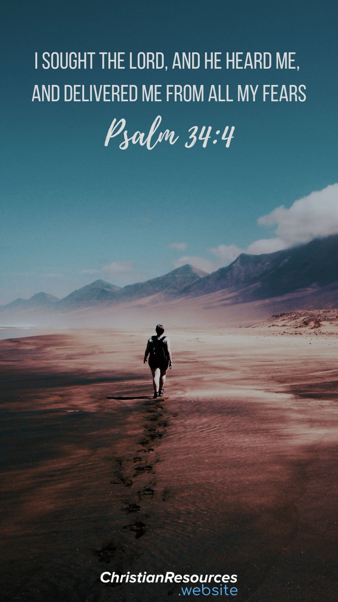 I sought the Lord, and he heard me, and delivered me from all my fears (Psalm 34:4). #BibleVerses #BibleQuotes #ScriptureQuotes #GodQuotes #BibleQuotesInspirational #ChristianResources #Bible #Quotes