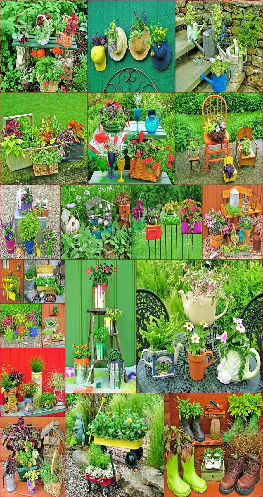 Diy Garden Decorating Ideas With Recycling Items Diy Garden