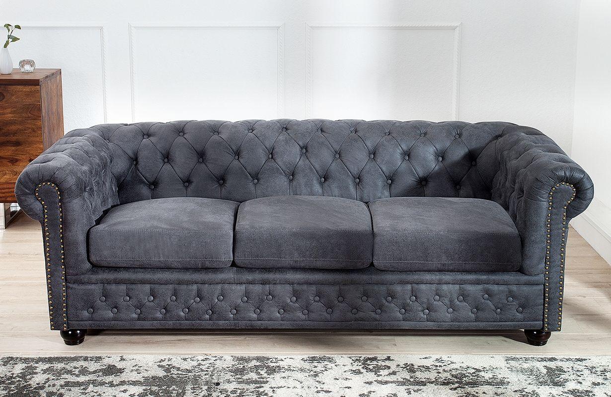 Sofa Chesterfield 3er Grey Von Nativo Designer Mobel Osterreich Sofa Design Sofa Und Wohnzimmer Couch