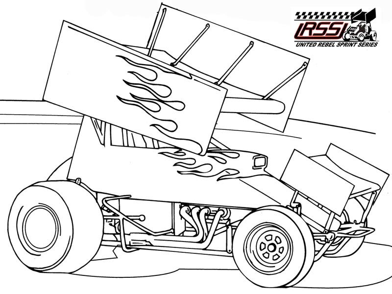 Sprint Car Coloring Pages Cars Coloring Pages Race Car Coloring Pages Sprint Cars