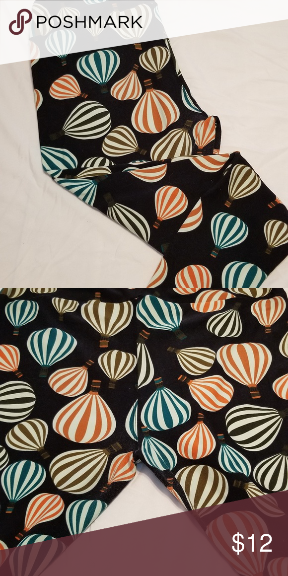 e71216d2b3fb36 Hot Air Balloon LuLaRoe Leggings Hit Air Ballons in green, black, orange,  and
