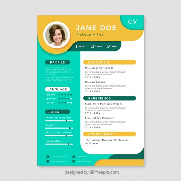 Download Colorful Resume Template For Free Resume Design Creative Graphic Design Cv Resume Design Template