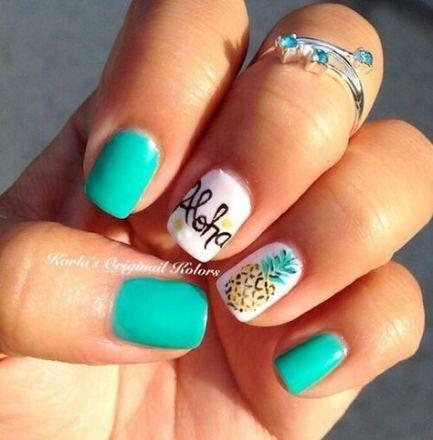 new nails gel ideas teal 55 ideas  pineapple nails diy