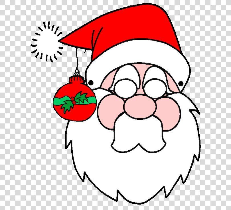 Santa Claus Christmas Decoration Mask Rudolph Santa Png Santa Claus Area Christmas Coloring Pages Printable Halloween Masks Free Christmas Coloring Pages