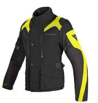 Dainese Tempest Lady D-Dry Womens Jacket Black/Blk/Fluo-Yellow