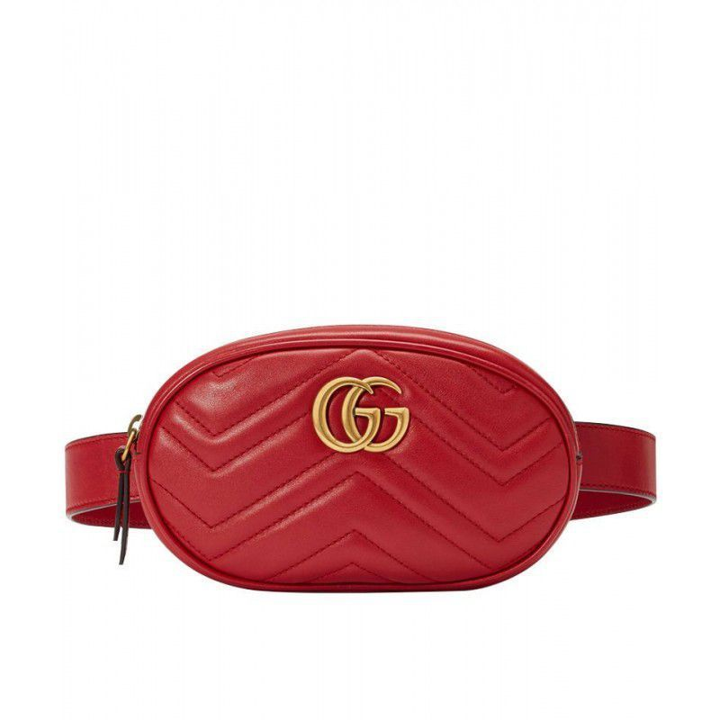ab997f0adc8 GG Marmont Matelasse Leather Belt Bag 476434 Red