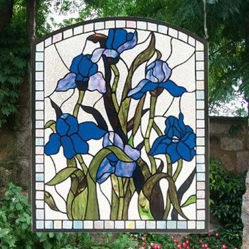 Stunning Irises in Stained Glass!!