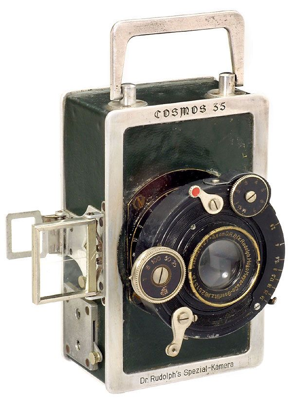 Cosmos 35; made in 1922 in Germany by Dr. Rudolph. Beautifully designed and one of the most desired cameras of it's time.