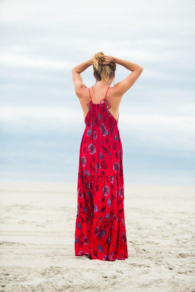 44fa42d60d9 The motherchic wearing red garden maxi dress
