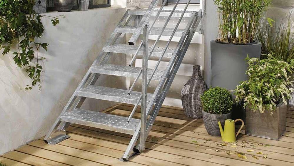 Faire Une Rampe D Escalier Pas Cher Un Escalier Exterieur En Kit