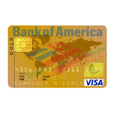 Visa Card Boa Bank Template  Template Visa Card Boa Bank Psd