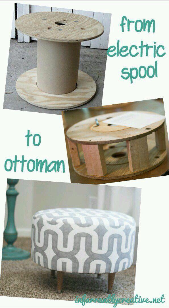 Otomana diy | Stools | Pinterest | Reciclado, Tapicería y Carpintería