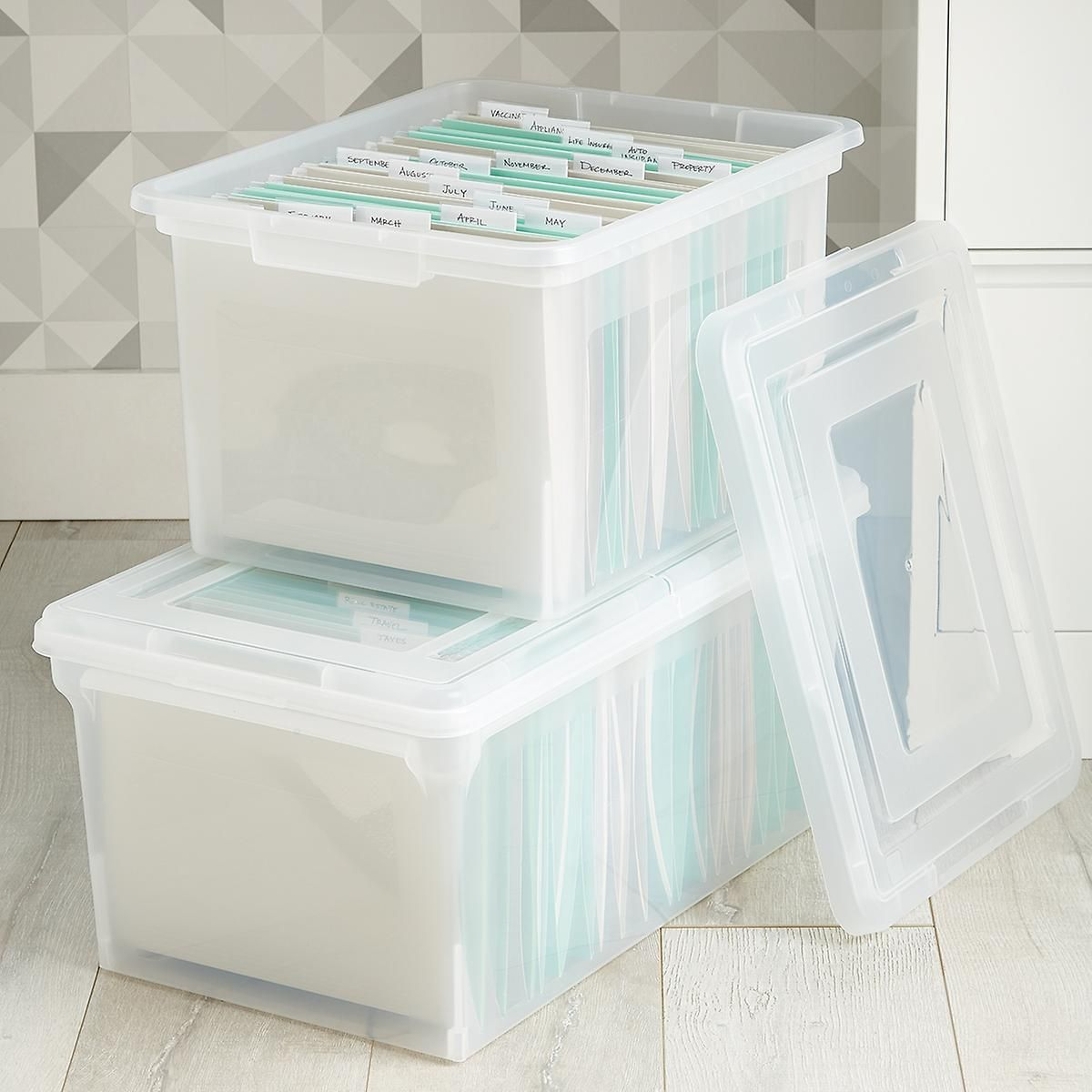 Clear Stackable File Tote Boxes (With images) Paper