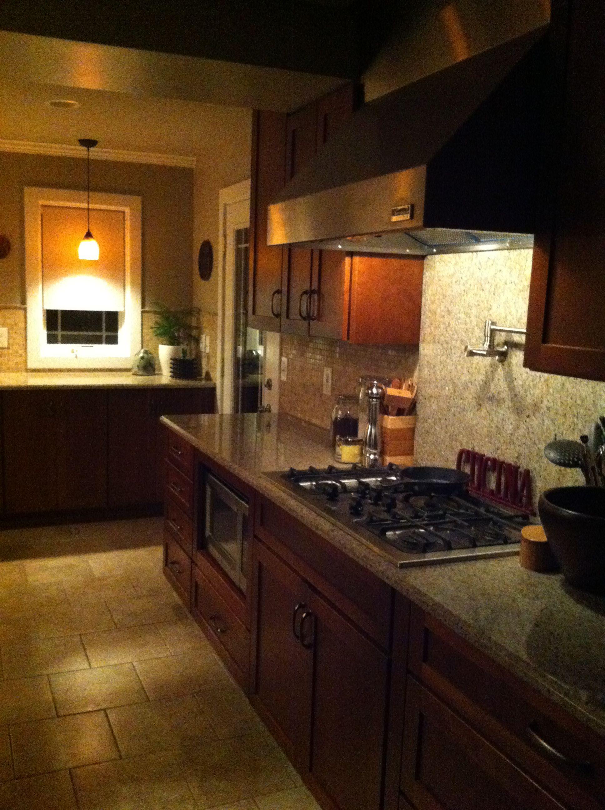 Kitchen Sherwin Williams Mindful Grey Walls Granite