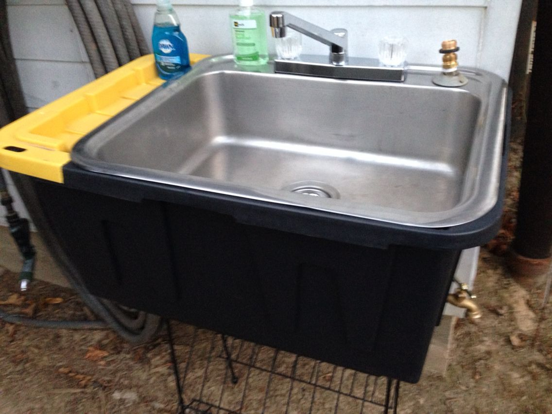 Quot Portable Quot Outdoor Sink I Made For Parties Gardening