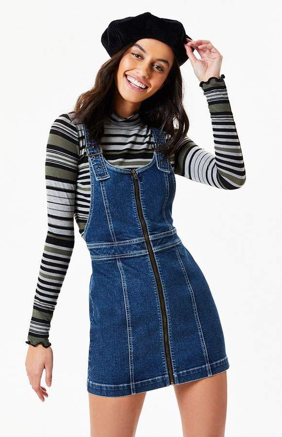 1c6c18b212 PacSun Zip Front Denim Dress