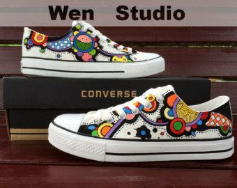 I Love Design Floral Converse Custom