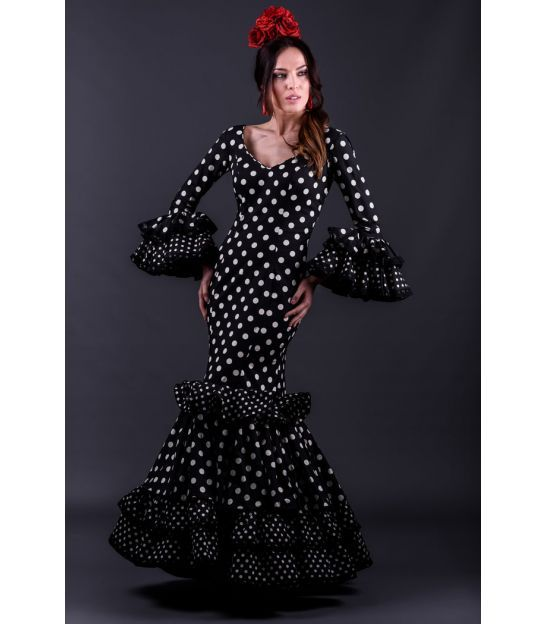 3b746c6b0 trajes de flamenca 2018 mujer - Roal - Vestido de flamenca Trigal ...