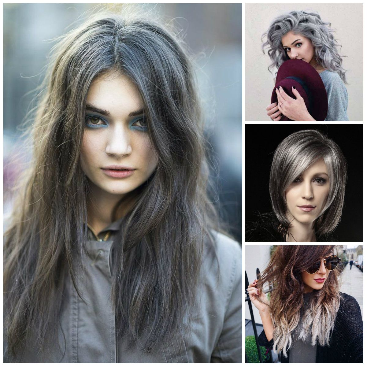 Best Hair Color Ideas Trends In 2017: Grey Hair Color Trends To Use In 2016