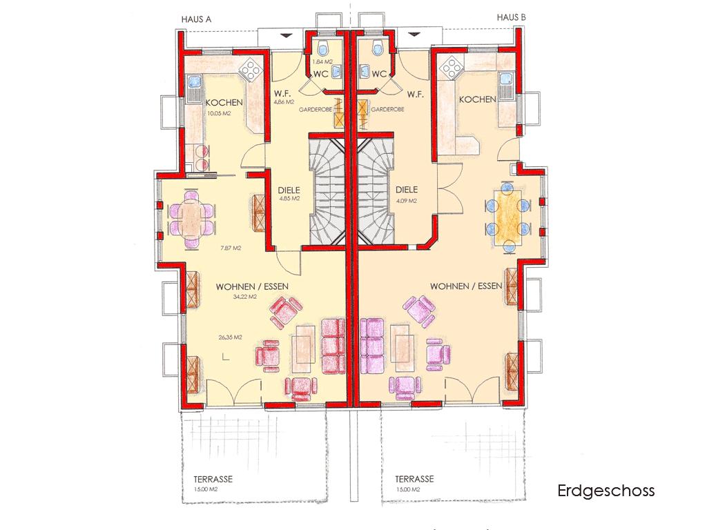 Grundriss Erdgeschoss Klicken Fur Details Haus Pinterest