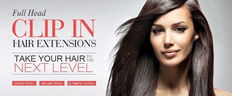Reusable Comfortable Hair Extensions Real Human Clip In Human Hair