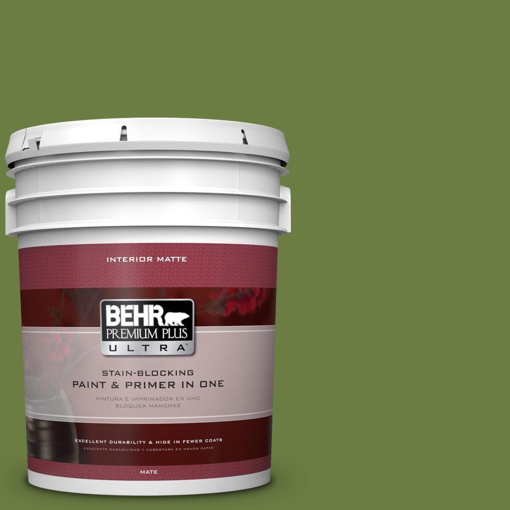 BEHR Premium Plus Ultra 5 gal. #M350-7 Healing Plant Matte Interior Paint