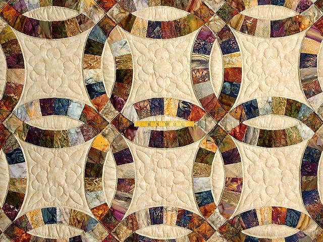 double wedding ring quilt Double Wedding Ring Quilt exquisite