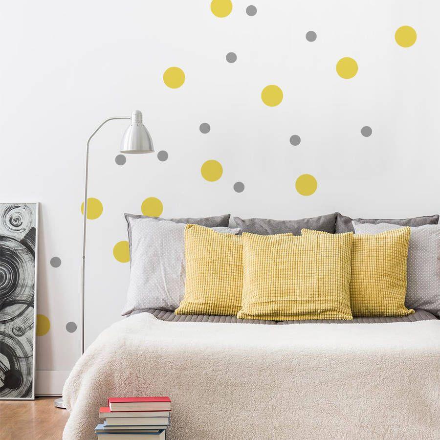 Peel And Stick Polka Dots Wall Sticker | Polka dot walls, Wall ...