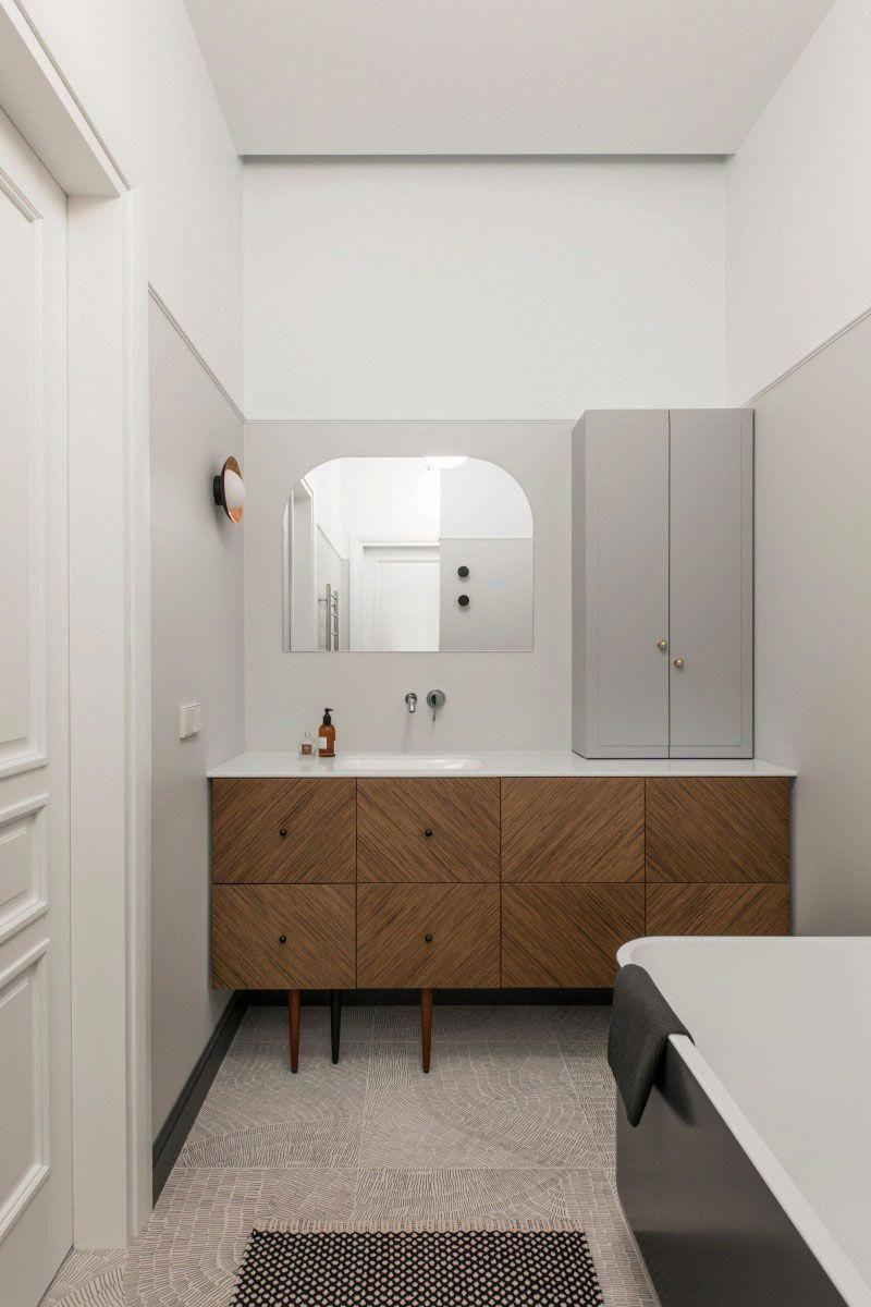 Modern apartment in muted tones vilnius interior design home decor also best images rh pinterest