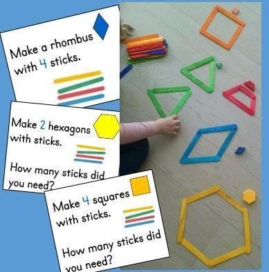 Kindergarten geometry math center making shapes from sticks kindergarten geometry math center making shapes from sticks ccuart Choice Image