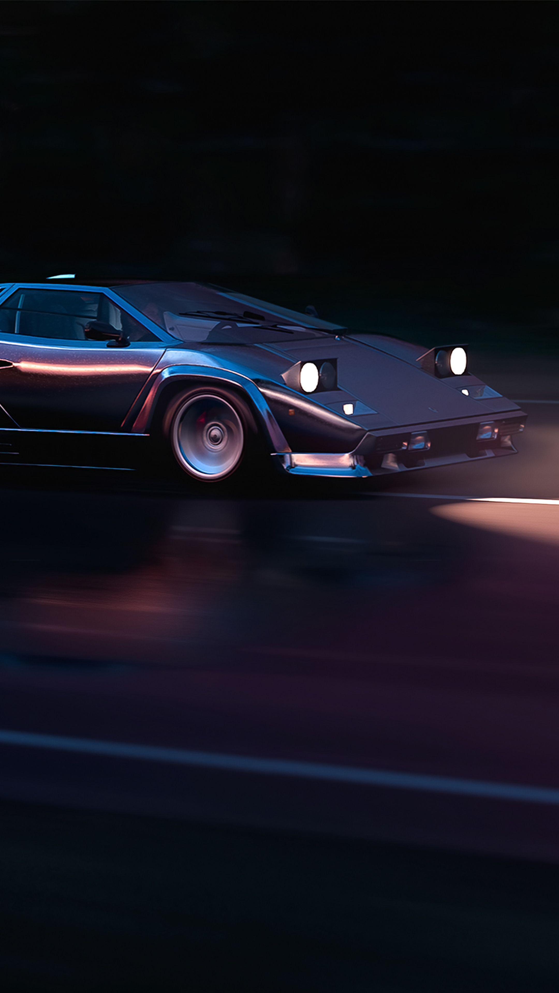 Running In 80s Lamborghini Countach 4k In 2160x3840 Resolution Lamborghini Countach Lamborghini Lamborghini Cars