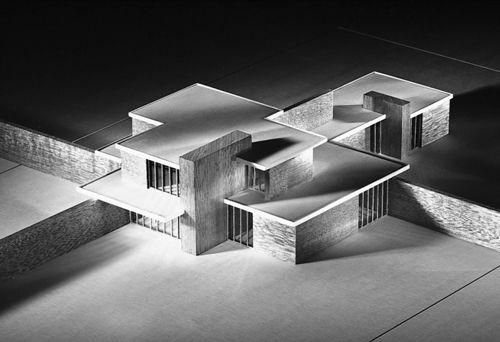 Mies van der rohe casa de ladrillo brick country house for Casa minimalista de mies van der rohe