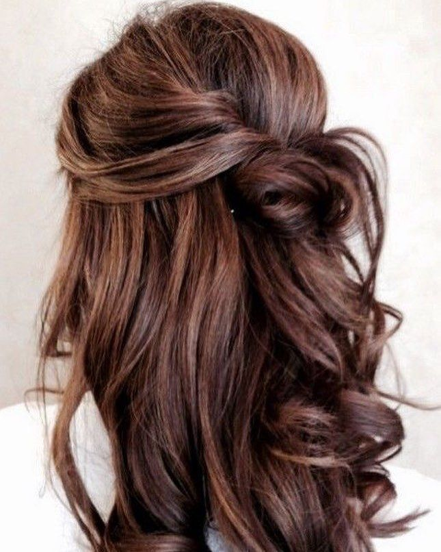 Half up half down hairstyle