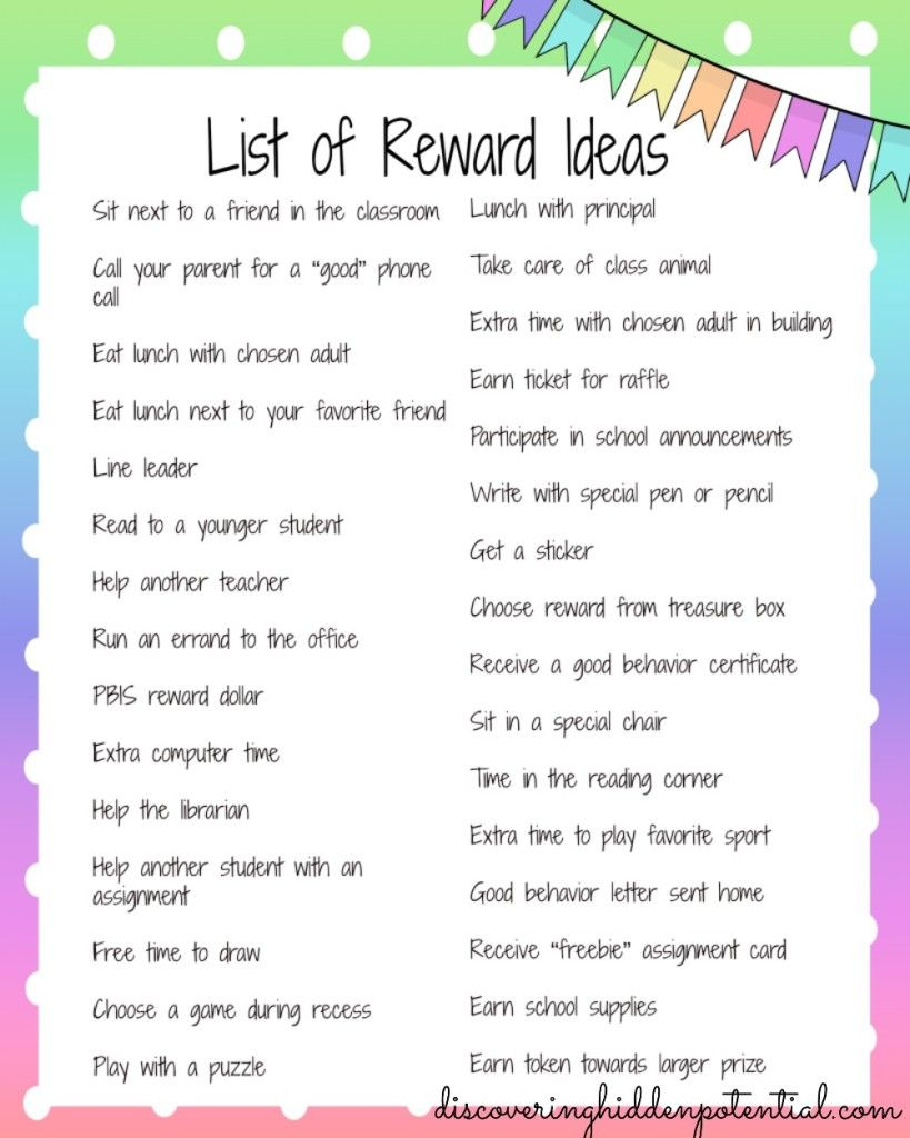 Classroom Reward Ideas For Kindergarten ~ Strategies for your behavior toolkit