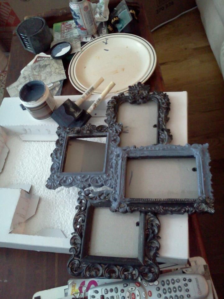 Picture Frame Cer From Marshalls Homegoods 14 99 And I Used My Left Over Paint Samples To Them