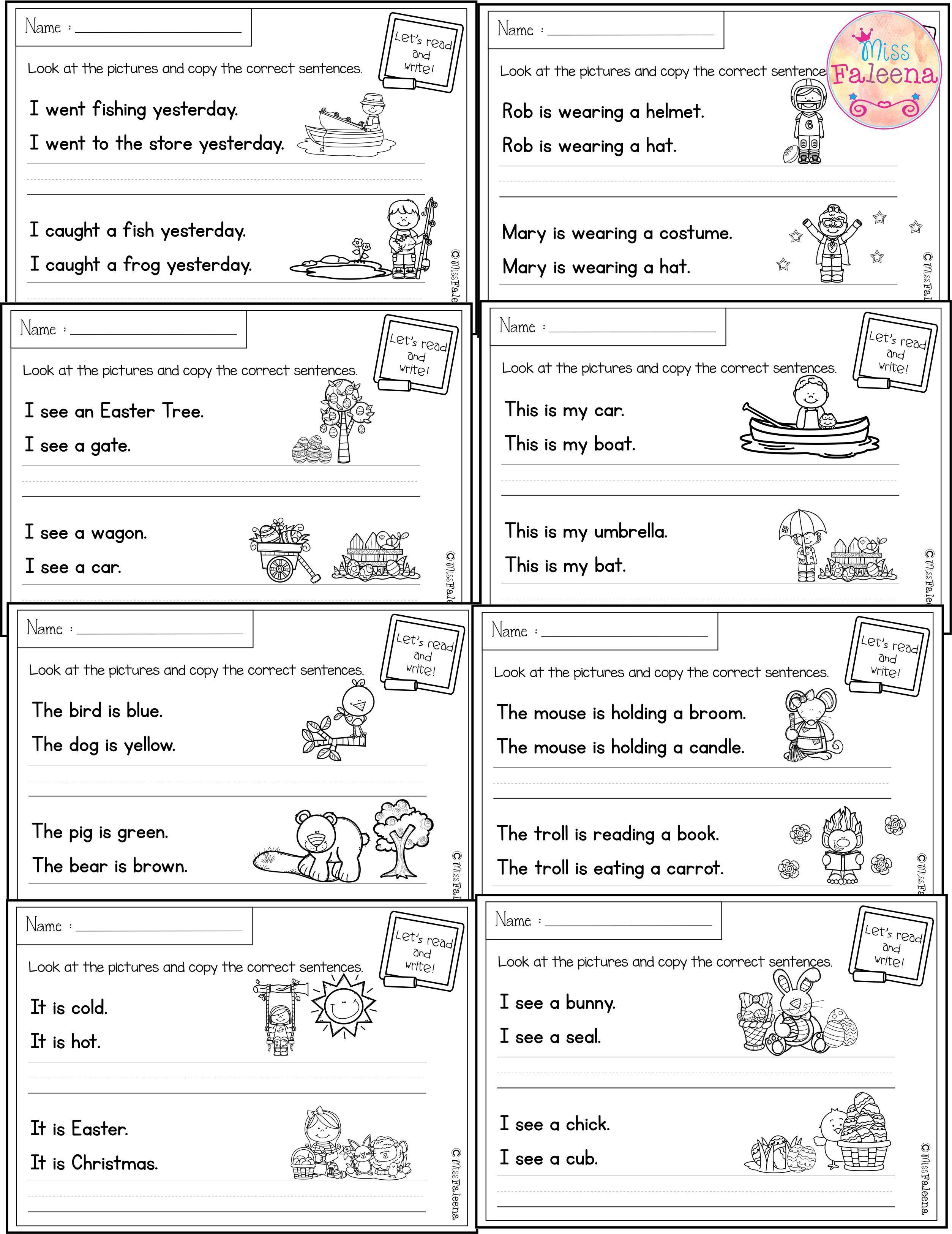 April Sentence Writing Sentence Writing Writing Worksheets Sentence Correction