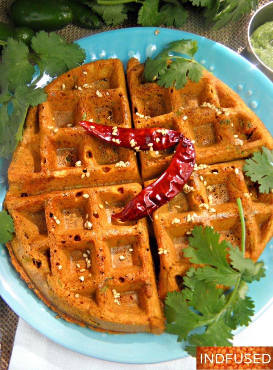 Kothimbir Vadi Waffle Waffle Maker Recipes Vegan Waffles Savory Waffles