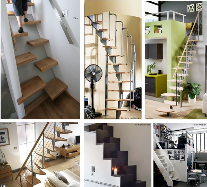 astuce gain de place l escalier pas japonais mezzanine tiny houses and house. Black Bedroom Furniture Sets. Home Design Ideas