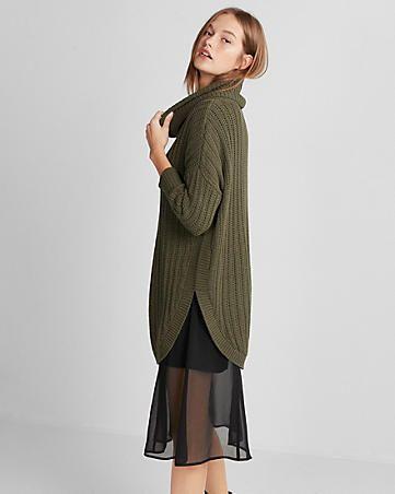 Extreme Circle Hem Cowl Neck Sweater | Style Me Pretty: Blouses ...